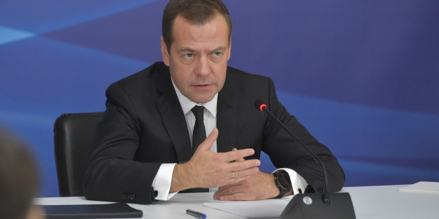 MOSCOW, RUSSIA - OCTOBER 6, 2017: Russia's Prime Minister Dmitry Medvedev speaks at a meeting to discuss further education system development for children, on his visit to the Vorobyovy Gory environmental and educational centre. Alexander Astafyev/Russian Government Press Office/TASS (Photo by Alexander Astafyev\TASS via Getty Images)