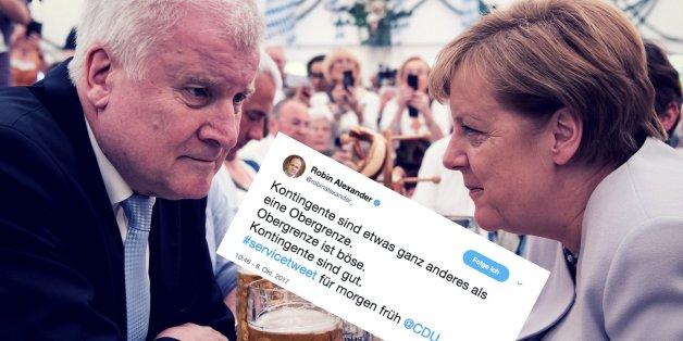 """""""Obergrenze böse, Kontingent gut"""": Politiker und Journalisten spotten über Unions-Kompromiss"""