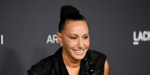 Fashion designer Donna Karan poses at the Los Angeles County Museum of Art (LACMA) Art+Film Gala in Los Angeles, October 29, 2016. REUTERS/Danny Moloshok