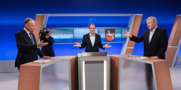 TV-Duell in Niedersachsen: SPD-Mann Weil gerät bei einer entscheidenden Frage ins Schwimmen