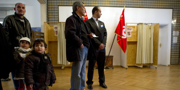 Tunisian expats queue up to vote at the Tunisian embassy in Berlin on October 21, 2011. Around 80,000 Tunisians living in Germany and eligible to vote are called to cast their ballots in Berlin and 14 other German cities. The country where the Arab spring begun opened it's doors for the first free elections since the revolution earlier this year. On October 23, 2011, nine months after the ouster of strongman Zine el Abidine Ben Ali in a popular revolt that sparked region-wide pro-democracy upris