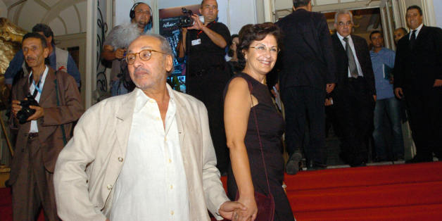 Tunisian actress Jelila Baccar and Tunisian director Fadhel Jaibi during the opening ceremony at the 21st session of the Carthage film festival (JCC) on October 25, 2008 in Tunis.   AFP PHOTO / FETHI BELAID (Photo credit should read FETHI BELAID/AFP/Getty Images)