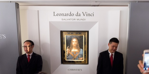 HONG KONG, HONG KONG SAR,CHINA-OCTOBER 13: The 'Lost Da Vinci' goes on display to the public in the Christie's Auction house showrooms Admiralty, Hong Kong on October 13, 2017. It is the first time a Da Vinci has been available to view in Asia. Leonardo Da Vinci's Salvator Mundi, the only known Leonardo da Vinci painting in private hands  will be auctioned in November at Christie's headquarters.  (Photo by Jayne Russell/Anadolu Agency/Getty Images)