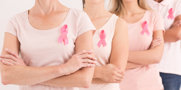 Group of women united against breast cancer