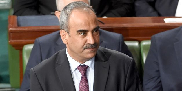 Tunisian newly appointed finance minister Ridha Chalghoum attends a parliamentary session ahead of a vote of confidence in the prime minister's reshuffled government, on September 11, 2017, in Tunis.