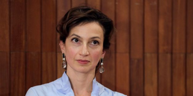 French former culture minister and newly elected head of UNESCO Audrey Azoulay looks on during a press conference following her election on October 13, 2017 at the UNESCO headquarters in Paris. Former French foreign minister Audrey Azoulay was selected to head the embattled UN cultural agency UNESCO after defeating her Qatari rival by two votes in a cliffhanger election on October 13. / AFP PHOTO / Thomas Samson        (Photo credit should read THOMAS SAMSON/AFP/Getty Images)