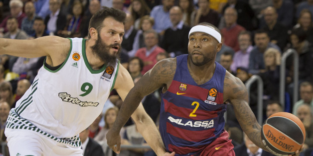 Tyrese Rice during the basket Turkish Airlines Euroleague match between FC Barcelona and Panathinaikos in Barcelona, on December 2, 2016. (Photo by Miquel Llop/NurPhoto via Getty Images)