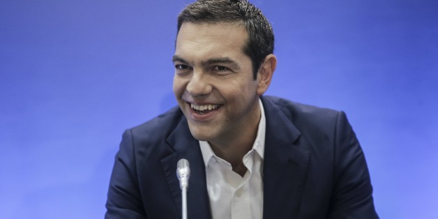 THESSALONIKI, GREECE - SEPTEMBER 10 :  Greek Prime Minister Alexis Tsipras speaks during a press conference within the 82nd Thessaloniki International Fair (TIF) in Thessaloniki, Greece on September 10, 2017. (Photo by Ayhan Mehmet/Anadolu Agency/Getty Images)