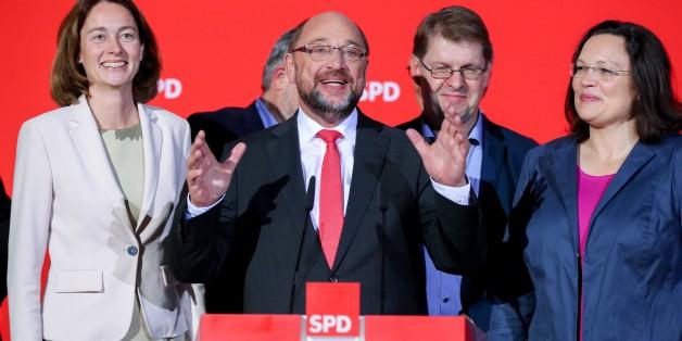 Schulz und Stegner müssen wieder ein Wahlergebnis kommentieren – doch dieses Mal ist alles anders