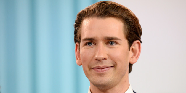 VIENNA, AUSTRIA - OCTOBER 15:  Sebastian Kurz, Austrian Foreign Minister and leader of the conservative Austrian People's Party (OeVP) speaks at the party's election event after initial results came in that give the party a first place finish and 31,6% of the vote in Austrian parliamentary elections on October 15, 2017 in Vienna, Austria. The OevP will seek a coalition partner to create a new government, though its current partner, the Austrian Social Democrats (SPOe) of Chancellor Christian