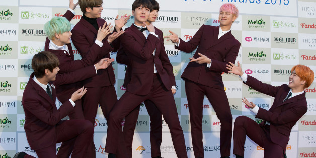 SEOUL, SOUTH KOREA - FEBRUARY 17:  Boy band BTS attends the 5th Gaon Chart K-Pop Awards on February 17, 2016 in Seoul, South Korea.  (Photo by Han Myung-Gu/WireImage)