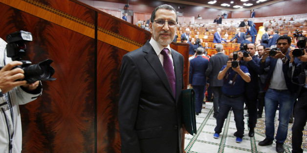 Moroccan Prime Minister Saad Eddine el-Othmani arrives at the Moroccan Parliament in Rabat, Morocco April 19, 2017. REUTERS/Youssef Boudlal