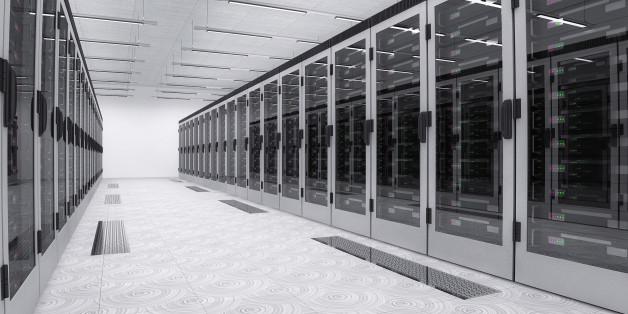 Servers in server room.