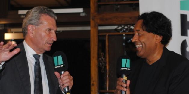 Cherno Jobatey im Gespräch mit Günther Oettinger