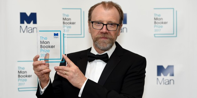LONDON, UNITED KINGDOM - OCTOBER 17: Winning author George Saunders is pictured with his award at The Guildhall during the Man Booker Prize winner announcement photocall, on October 17, 2017 in London, United Kingdom. The American short story writer George Saunders has won the Man Booker prize for his first full-length novel, Lincoln in the Bardo.  (Photo by Kate Green/Anadolu Agency/Getty Images)