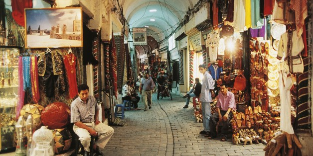 TUNISIA - FEBRUARY 9: Souks in the medina of Tunis, Tunisia. (Photo by DeAgostini/Getty Images)