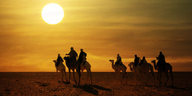 [UNVERIFIED CONTENT] Camels riders from Algeria Going back to Ouargla in Algeria after They won the Camel  Race at Teniri Festival in Ghadames City, Libya