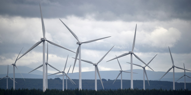EAST KILBRIDE, SCOTLAND - JULY 17:  Wind turbines are seen at Whitelees wind farm on July 17, 2015 in East Kilbride, Scotland. According to a trade body Scottish councils could lose out on an estimated £44m of income over the next 20 years if changes are made to wind farm subsidies.  (Photo by Jeff J Mitchell/Getty Images)