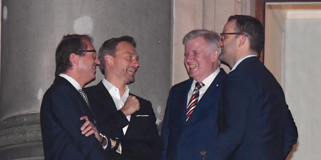 Haben gut lachen: Dobrindt, Lindner, Seehofer und Spahn