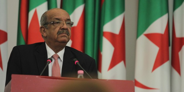 ALGIERS, ALGERIA - JULY 22: Algeria's Minister Delegate for Maghreb and African Affairs Abdelkader Messahel speaks during an international conference on the fight against extremism and de-radicalization held Wednesday on July 22, 2015 in Algiers with representatives from more than fifty countries and specialized international organizations. (Photo by Bechir Ramzy/Anadolu Agency/Getty Images)