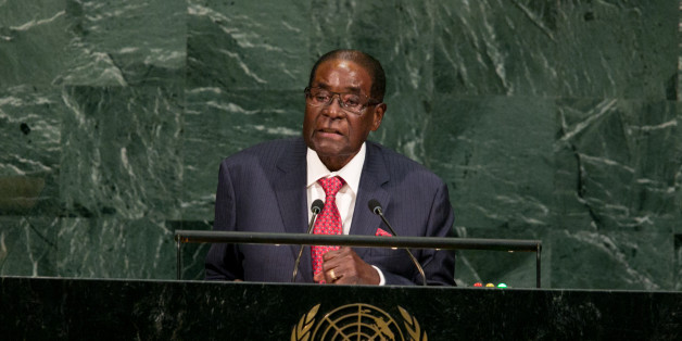 NEW YORK, NY - SEPTEMBER 21: Zimbabwe's President Robert Gabriel Mugabe addresses the U.N. General Assembly at the United Nations on September 21, 2017 in New York, New York. (Photo by Kevin Hagen/Getty Images)