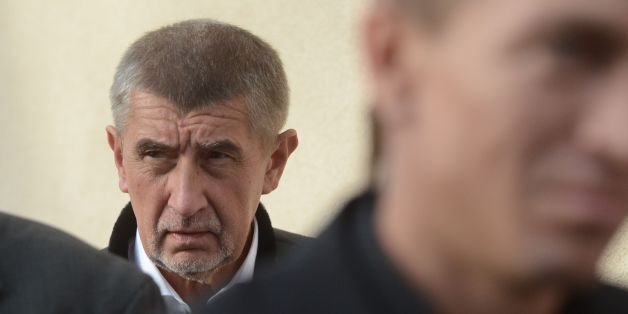 Czech billionaire and leader of the ANO 2011 political movement, Andrej Babis, looks as he arrives for a pre-election debate on October 04, 2017, in Vsetaty village, central Bohemia, near Prague. / AFP PHOTO / MICHAL CIZEK        (Photo credit should read MICHAL CIZEK/AFP/Getty Images)