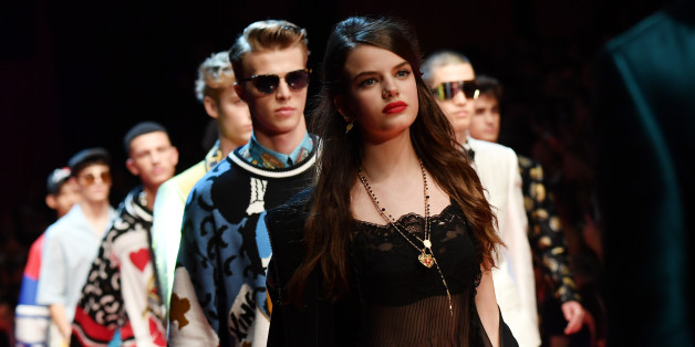 MILAN, ITALY - JUNE 17:  Sonia Ben Ammar walks the runway at the Dolce & Gabbana show during Milan Men's Fashion Week Spring/Summer 2018 on June 17, 2017 in Milan, Italy.  (Photo by Jacopo Raule/Getty Images)