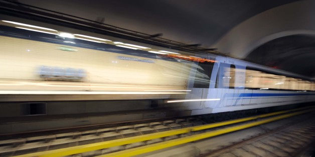 A test ride on September 8, 2011 in the new underground in Algiers. The subway network will be officially in service this November after 30 years of construction. AFP PHOTO FAROUK BATICHE (Photo credit should read FAROUK BATICHE/AFP/Getty Images)