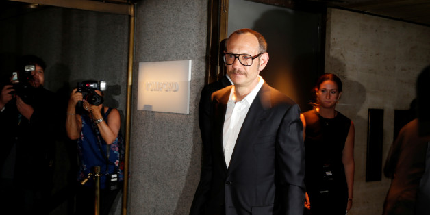 Terry Richardson arrives to attend a presentation of Tom Ford's Autumn/Winter 2016 collections during New York Fashion Week in the Manhattan borough of New York, U.S., September 7, 2016.  REUTERS/Lucas Jackson