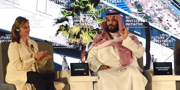 Mohammed bin Salman (zweiter von links) will sein Land reformieren