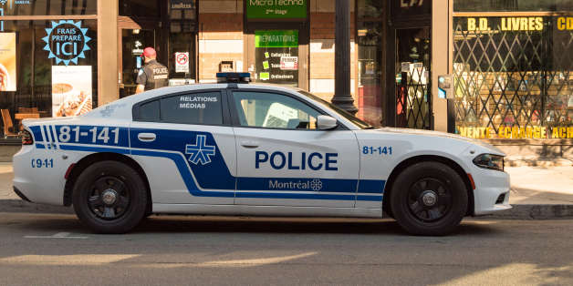 MONTREAL, QUEBEC, CANADA - 2017/06/11: Police car parked in Saint Catherine street. (Photo by Roberto Machado Noa/LightRocket via Getty Images)