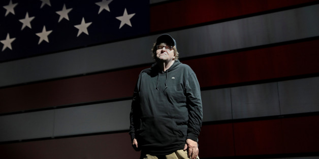 Michael Moore poses for a portrait at the site of his one-man Broadway show at the Belasco Theatre in Manhattan, New York, U.S., August 17, 2017.  REUTERS/Shannon Stapleton