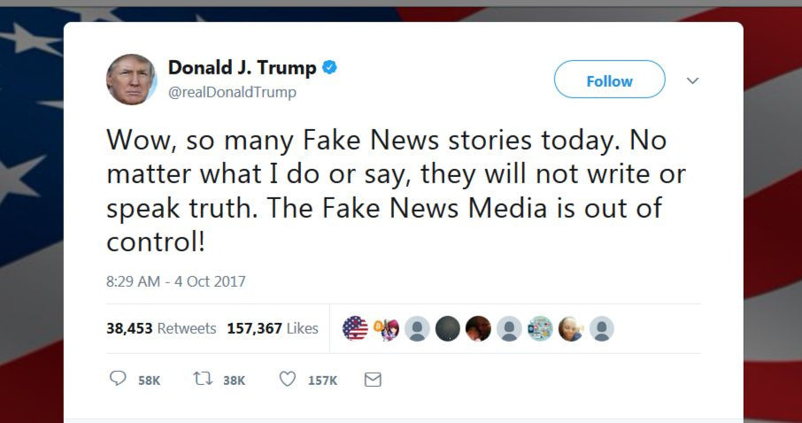 donald trump fake news