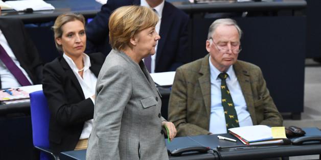 Angela Merkel im Bundestag (Archivbild)