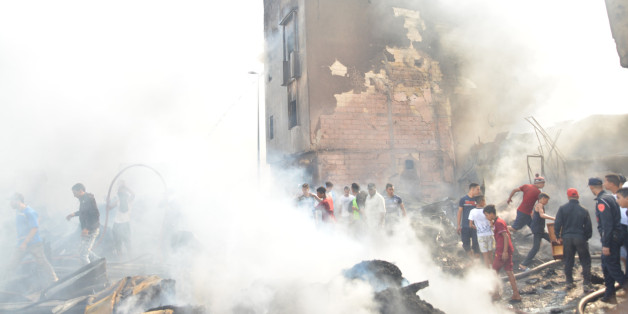 Impressionnant incendie dans un souk de Casablanca