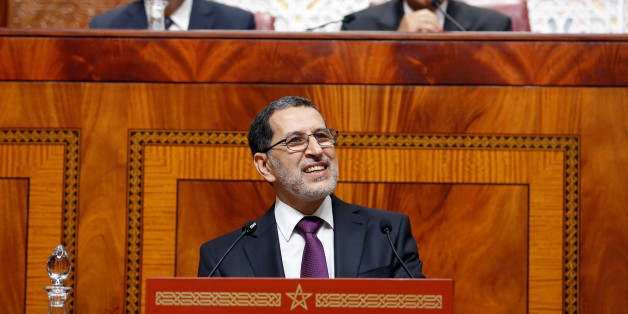Moroccan Prime Minister Saad Eddine el-Othmani delivers his first speech presenting the government's program at the Moroccan Parliament in Rabat, Morocco April 19, 2017. REUTERS/Youssef Boudlal