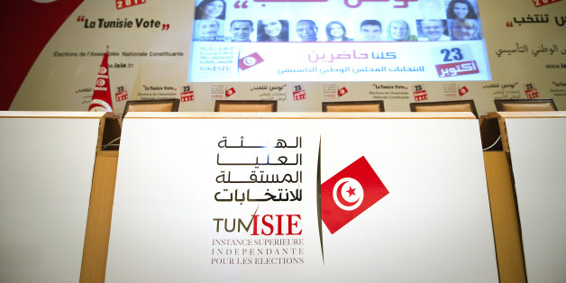 The international press center is pictured in Tunis on October 22, 2011, on the eve of historic national election in Tunisia. Tunisian voters on October 22 weighed their choices on the eve of the Arab Spring's historic first elections nine months after the surprise toppling of strongman Zine el Abidine Ben Ali that started it all. Campaigning ended at midnight for the vote the previously banned Islamist Ennahda party is tipped to win, with the ISIE independent polling commission reminding candid