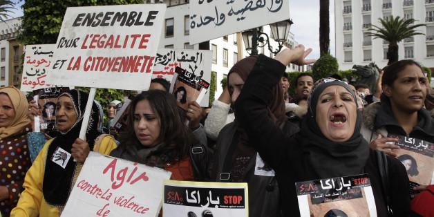 Manifestation contre la violence à l'égard des femmes, Rabat, 24 novembre 2013.