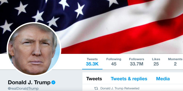 The masthead of U.S. President Donald Trump's @realDonaldTrump Twitter account is seen on July 11, 2017.  @realDonaldTrump/Handout via REUTERS    ATTENTION EDITORS - THIS IMAGE WAS PROVIDED BY A THIRD PARTY