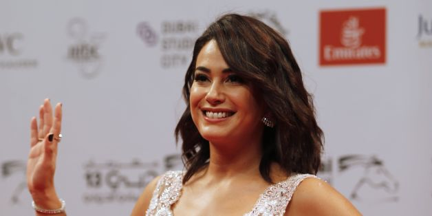 Tunisian actress Hend Sabri attends the Opening Night Gala ceremony of the 13th Dubai International Film Festival (DIFF), on December 7, 2016. / AFP / KARIM SAHIB        (Photo credit should read KARIM SAHIB/AFP/Getty Images)