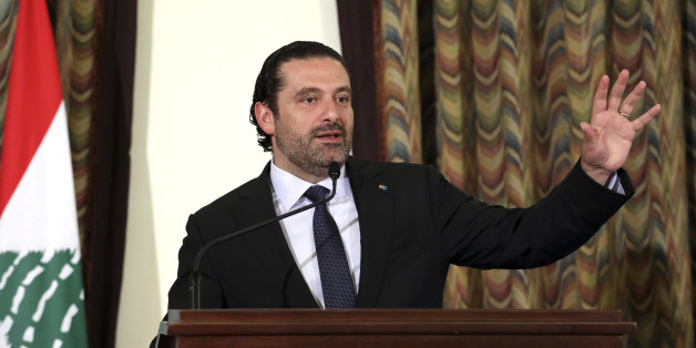 Lebanon's Prime Minister Saad al-Hariri gestures as he talks at the governmental palace in Beirut, Lebanon August 10, 2017. Picture taken August 10, 2017. Dalati Nohra/Handout via REUTERS ATTENTION EDITORS - THIS IMAGE HAS BEEN SUPPLIED BY A THIRD PARTY.