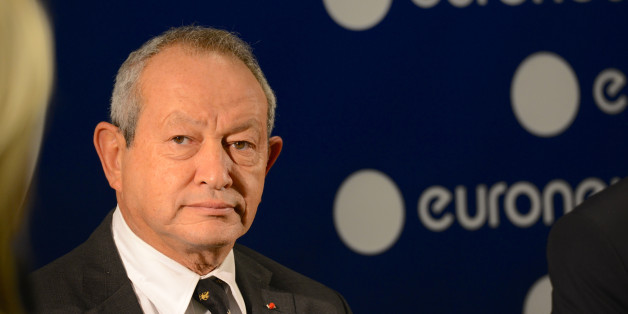 Lyon (south-eastern France): 2015/10/15. The Egyptain multimillionaire Naguib Sawiris, who invested 35 million euros to acquire a 53% controlling stake in the media outlet, inaugurated the headquarters of the European multilingual news media service 'Euronews' in the Confluence district: a green cube with 10 000 m2 of office space allocated on 6 levels, designed by architects Jakob & MacFarlane, with will accomodate the 800 international employees. Tight portrait during the press conference to p