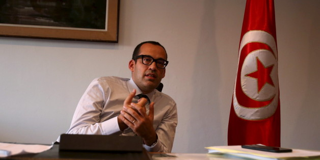 Tunisia's Investment Minister Yassine Brahim speaks with Reuters journalists in Tunis, Tunisia, October 28, 2015. Tunisia hopes to double annual inflows of foreign investment over the next five years by pushing through legal reforms and reducing industrial unrest, Brahim said. To match Reuters Summit TUNISIA-INVESTMENT/ Picture taken October 28, 2015. REUTERS/Zoubeir Souissi