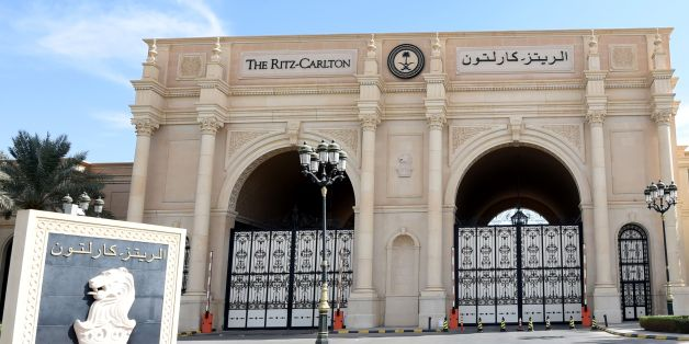 A picture taken on November 5, 2017 in Riyadh shows a general view of the closed main gate of the Ritz Karlton hotel in Riyadh.A day earlier Saudi Arabia arrested 11 princes, including a prominent billioniare, and dozens of current and former ministers, reports said, in a sweeping crackdown as the kingdom's young crown prince Mohammed bin Salman consoliates power. / AFP PHOTO / FAYEZ NURELDINE        (Photo credit should read FAYEZ NURELDINE/AFP/Getty Images)