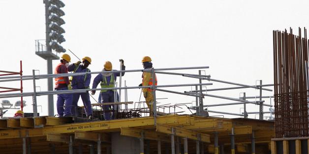 Des travailleurs étrangers à Doha, Qatar, mars 2016.