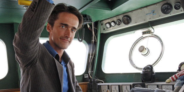 Pierre-Yves Cousteau, son of French marine explorer Captain Jacques-Yves Cousteau, poses inside the expedition ship Alcyone in Marseille June 4, 2010.The Cousteau Society along with the National Geographic Society, launches an expedition to explore the Mediterranean sea and the health of the oceans.    REUTERS/Jean-Paul Pelissier (FRANCE - Tags: ENVIRONMENT SOCIETY SCI TECH)