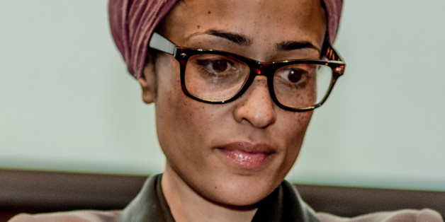 Zadie Smith, British novelist, at a reading and discussion at Barnard College in New York. Photograph: Timothy Fadek (Photo by Timothy Fadek/Corbis via Getty Images)