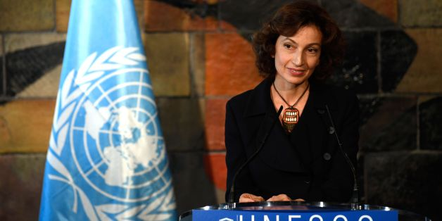 Former French culture minister Audrey Azoulay speaks at the UNESCO headquarters in Paris on November 10, 2017 after UNESCO member states approved her nomination to head of the cultural agency.The vote was 131 in favour to 19 opposed to the nomination by the agency's board last month of Azoulay, 45, who becomes UNESCO's second woman director general. / AFP PHOTO / Eric FEFERBERG        (Photo credit should read ERIC FEFERBERG/AFP/Getty Images)