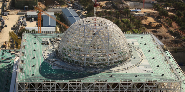 A view of the dome at the construction site of the new Great Mosque of Algiers, called Djemaa El Djazair, which is being built by the China State Construction Engineering Corporation (CSCEC), and overseen by Algeria's National Agency for Realization and Management (ANERGEMA) in Algiers, Algeria February 7, 2017. REUTERS/Zohra Bensemra