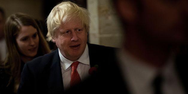 Britain's Foreign Secretary Boris Johnson walks to a meeting with Senate Majority Leader Senator Mitch McConnell (R-KY) on Capitol Hill November 8, 2017 in Washington, DC. / AFP PHOTO / Brendan Smialowski        (Photo credit should read BRENDAN SMIALOWSKI/AFP/Getty Images)